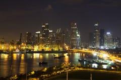 Singapore at night. Royalty Free Stock Photo
