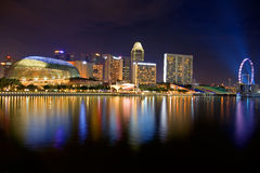 Singapore night lights Stock Photo