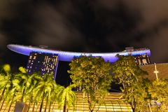 Singapore in the night time. Singapore by night and nice shot in the night time stock photo