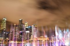 Singapore in the night time. Singapore by night and nice shot in the night time stock images