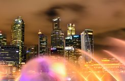 Singapore in the night time. Singapore by night and nice shot in the night time royalty free stock photo