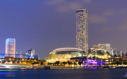 Singapore by night Stock Photography