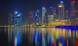 Singapore at night Stock Image