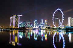 Singapore with night show Stock Images