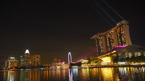 Singapore at the night royalty free stock photos