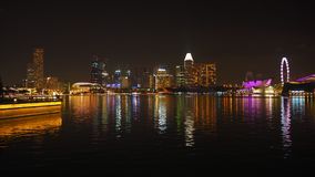 Singapore at the night stock image