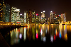 Singapore in the night time Stock Photo