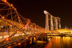 Singapore at night time. Royalty Free Stock Photography
