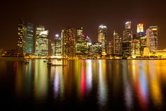 Singapore in the night time Royalty Free Stock Photo