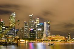 Singapore in the night time. Singapore by night and nice shot in the night time stock photos