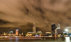 Singapore in the night time. Singapore by night and nice shot in the night time stock image