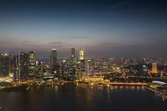 Singapore Night View Stock Photos