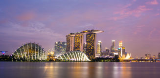 Singapore by night Stock Photos