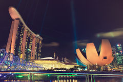 Singapore night view Stock Photography