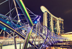 Singapore night view Royalty Free Stock Images