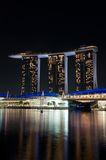Singapore, night view. Stock Photos