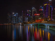 Singapore Nightlife at the bayfront Royalty Free Stock Images