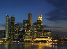 Singapore Nite Landscape 2 Royalty Free Stock Image