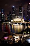 Singapore noc Zdjęcia Stock