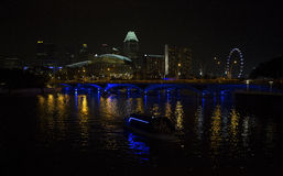 Singapore noc fotografia stock