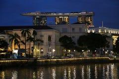 Singapore noc Zdjęcie Royalty Free