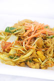 Singapore noodles stir fried. Stock Photos