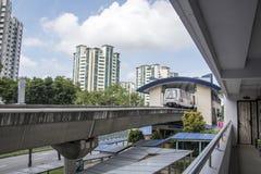 Self Driving Light Rapid Transit LRT on elevated tracks in Singapore