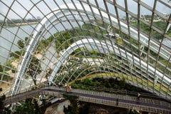 SINGAPORE SINGAPORE - NOVEMBER 15, 2018: Blommakupol i trädgårdar vid fjärden arkivfoto