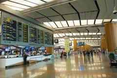 Singapore - November 19, 2017: Changi internationell flygplats Ter Arkivbild