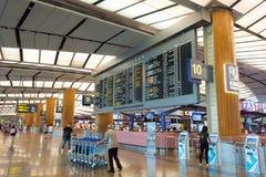 Singapore - November 19, 2017: Changi internationell flygplats Ter Royaltyfri Fotografi