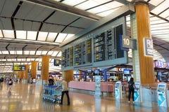 Singapore - November 19, 2017: Changi internationell flygplats Ter Arkivbilder