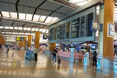 Singapore - November 19, 2017: Changi internationell flygplats Ter Royaltyfri Foto