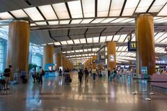 Singapore - November 19, 2017: Changi internationell flygplats Ter Royaltyfri Bild