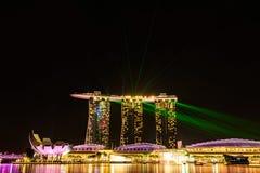SINGAPORE - NOVEMBER 22, 2016: Marina Bay Sands Resort Hotel på N Royaltyfri Bild