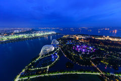 SINGAPORE - NOVEMBER 22, 2016: Supertrees at Gardens by the Bay. Royalty Free Stock Images
