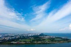 Singapore - 11 novembre 2017: Vista dell'orizzonte di Singapore HD Immagine Stock