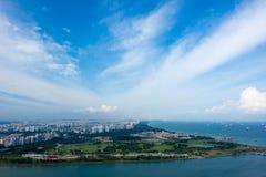 Singapore - 11 novembre 2017: Vista dell'orizzonte di Singapore HD Fotografia Stock