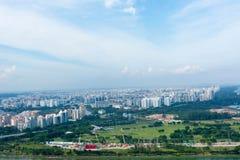 Singapore - 11 novembre 2017: Vista dell'orizzonte di Singapore HD Fotografie Stock Libere da Diritti
