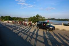 Singapore OCBC Cycle Road Race 2016 Royalty Free Stock Photo