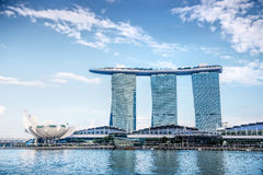 SINGAPORE-OCT 28: The 6.3 biliion dollar (US) Marina Bay Sands Stock Photos