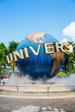 SINGAPORE - OCT, 28 UNIVERSAL STUDIOS SINGAPORE sign on October Stock Photo