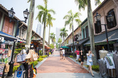 SINGAPORE, OCTOBER 12, 2015: Arab street is the center of the Mu Royalty Free Stock Photos