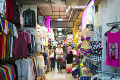 SINGAPORE, OCTOBER 12, 2015: bugis street shopping mall is a pop Stock Image
