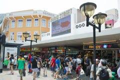 SINGAPORE, OCTOBER 12, 2015: bugis street shopping mall is a pop Stock Photos