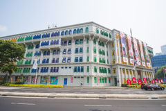 SINGAPORE, OCTOBER 13, 2015: colorful of MICA building It was kn Royalty Free Stock Photo