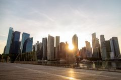SINGAPORE, SINGAPORE - OCTOBER 26, 2018: Singapore downtown city nostalgic view stock photography