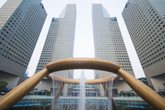 SINGAPORE, OCTOBER 13, 2015: fountain of wealth have been record Stock Image