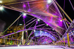 SINGAPORE - October 28: the Helix bridge on October 28, 2014 in Royalty Free Stock Photos