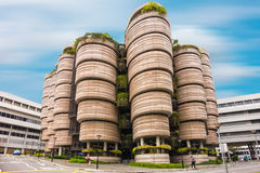 SINGAPORE - OCTOBER 24, 2016: Modern architectural building of N. Anyang Technological University in Singapore stock photos