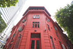 SINGAPORE, OCTOBER 13, 2015: red dot design museum is the center. Of creativity. The place is famous as one of Singapore on October 13, 2015, landmark royalty free stock photography